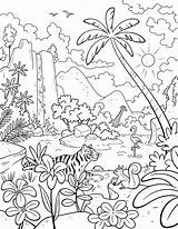 Paradise Coloring Pages Lds Getdrawings Primary sketch template