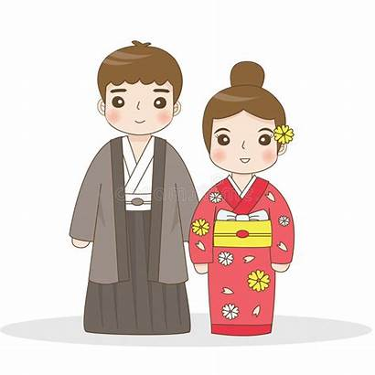 Japanese Traditional Clipart Costumes Asian Japan Cartoon
