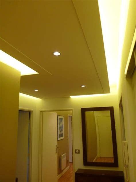 photos de faux plafond avec lumière indirecte les