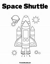 Space Shuttle Coloring Pages Preschool Theme Outer Activities Astronaut Nasa Printable Story Sheets Template Exploring Easy Colouring Spaceship Craft Unit sketch template