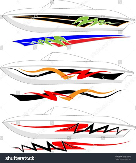 Boat Paint Terms by Boat Graphics Stripe Vinyl Ready Stock Vector 196673873