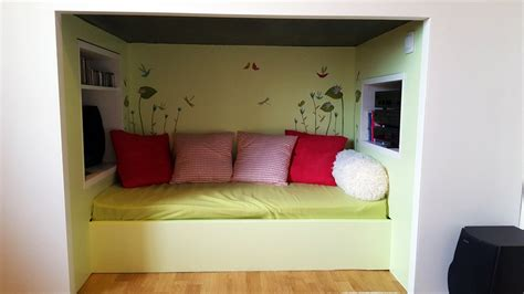 cuisine cocoon cocoon mydal bunk bed with reading nook ikea hackers