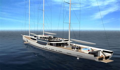 Best Catamaran Sailing Yachts by Luxury Sailboats 100m Mega Sailing Yacht By Design