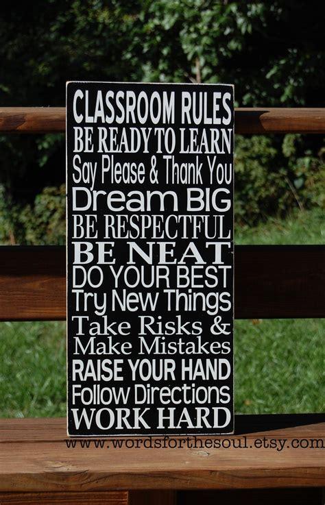 Teacher Classroom Rules Subway Art