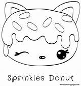 Donut Coloriage Coloring Dessin Sprinkles Donuts Printable Colorier Imprimer Noms Num Jecolorie Imprime Fois sketch template