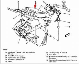 Where Is The Automatic Transfer Case Control Module In My 2000 Gmc Yukon