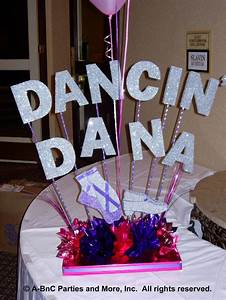 Diy Name Centerpiece Kits For Buffet And Sign In Tables