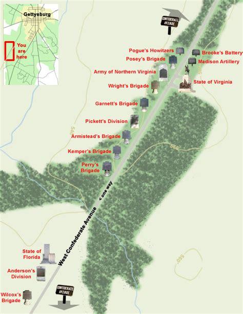 map  west confederate avenue part   gettysburg