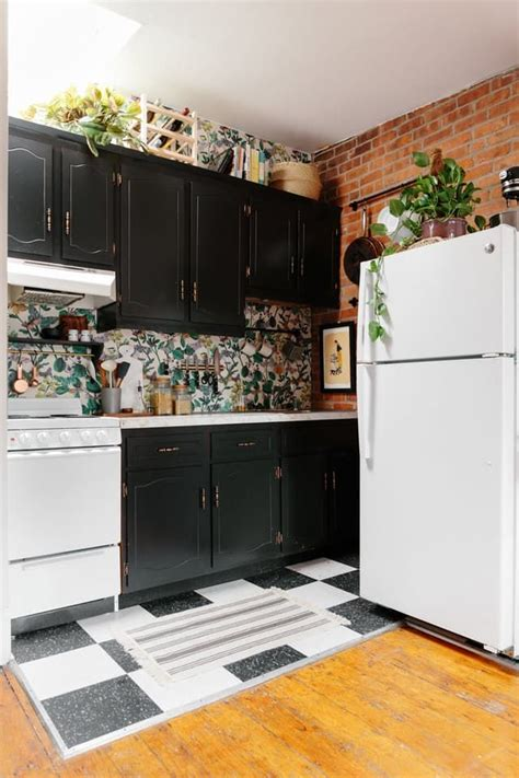 apartment kitchen ideas 300 later this rental kitchen is no longer recognizable Rental