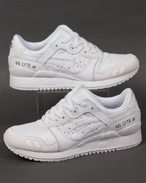 asics gel lyte iii suede trainers whitewhiteshoes