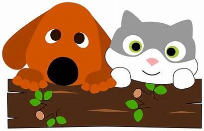 Clipart Cat Dog Animated Tree Clip Animal