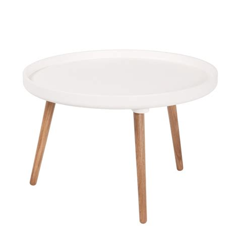 table basse ronde blanche table basse scandinave kompass 55 by drawer