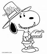 Snoopy Coloring Pages Thanksgiving Printable Cool2bkids sketch template