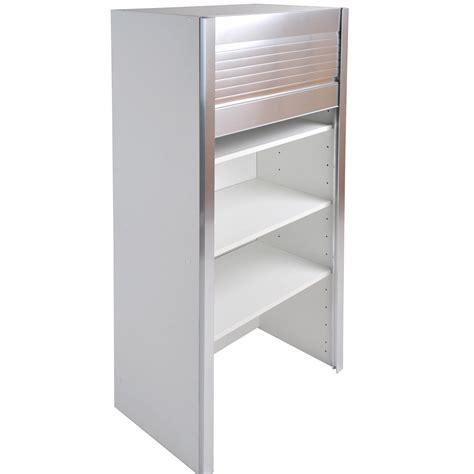 caisson de cuisine haut bf60 delinia blanc l60 x h126 x p35 cm leroy merlin