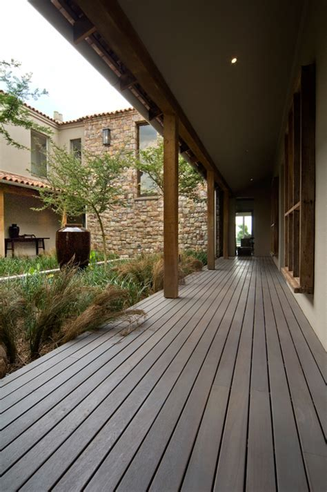 Thermo treated ash decking   Forest Flooring