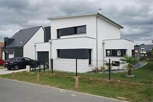 Maison Moderne Toit Plat : maison monopente toit plat saint gilles ~ Nature-et-papiers.com Idées de Décoration