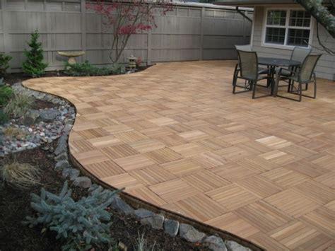 kontiki interlocking wood deck tiles interlocking deck tiles types and tips