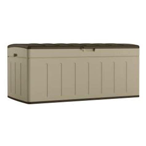 Suncast Deck Box Home Depot by Suncast 99 Gal Resin Deck Box Bmdb9900 The Home Depot
