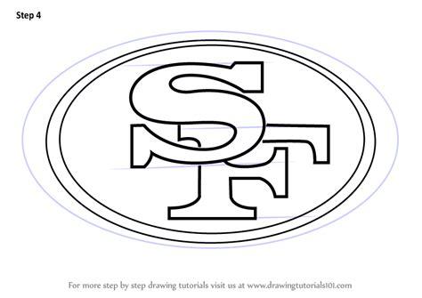 learn   draw san francisco ers logo nfl step