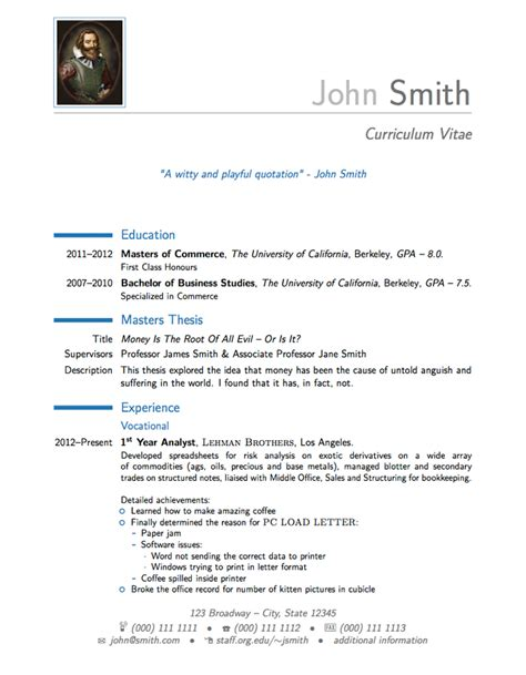 modern cv resume and cover letter latex template misc