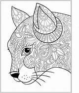 Coloring Pages Colouring Adult Cats Cat Printable Stress Dog Animal Relieving Books Patterns Sheets Designs Adults Quilling Etsy Mandala Abstract sketch template