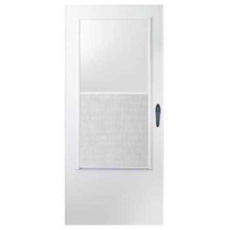emco screen door emco 32 in x 80 in 100 series white self storing