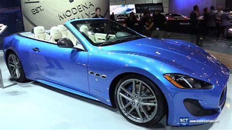 maserati blue maserati granturismo blue convertible