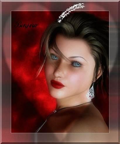 Femme Bonjour Coeur Belle Avec Centerblog Jour