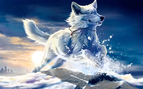 Beautiful Anime Wolf Wallpaper by Cool Wolf Backgrounds Wallpaper Cave