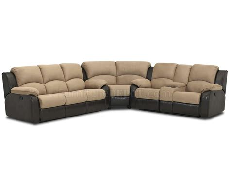 fabric sofas and sectionals two tone chocolate fabric reclining sectional sofa