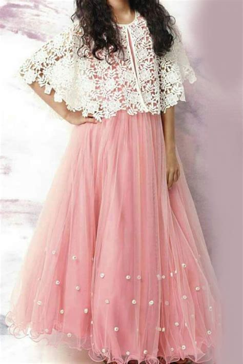 Youdesign Cotton Silk Net Cape Lehenga In Baby Pink Colour