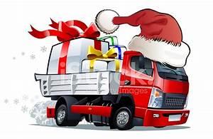 卡通圣诞卡车 Stock Vector - FreeImages com