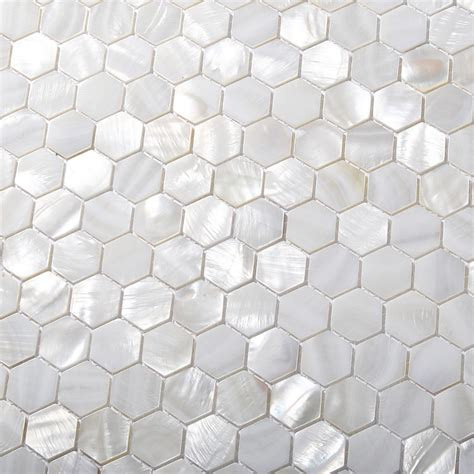 white of pearl subway tile tst of pearl tiles white hexagon shinning wall deco