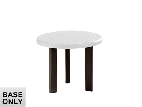 round coffee table base tropitone bases cast aluminum round coffee table base only