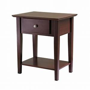 Amazon com: Winsome Wood Shaker Night Stand, Antique