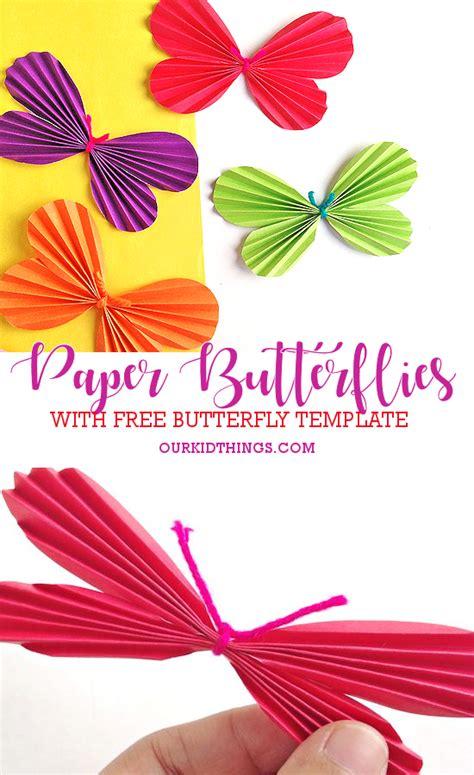 accordion fold butterflies craft  kid