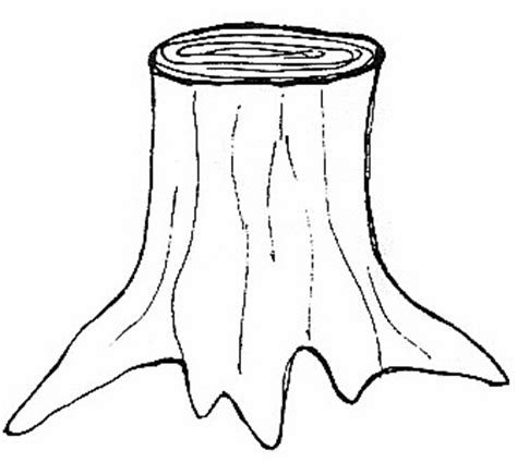 tree trunk clipart black and white tree stump clipart 21
