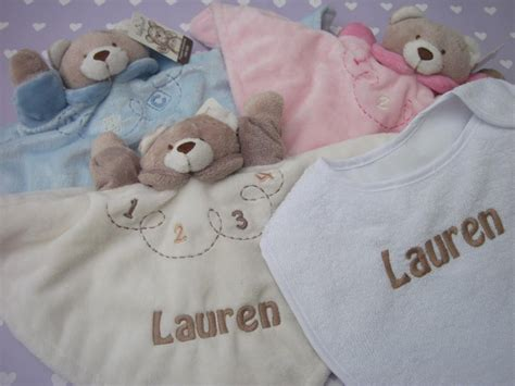 Personalised Baby Comforter Snuggle Blanket Gift- Includes Free Bib, Babies Name Blanket In Spanish Electric Onesie Mink Blankets King Size Crochet Cotton Yarn Puppy Dog Baby Personalized Family Aden And Anais Dream Army Surplus Nz