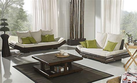 canapé bambou table basse bambou wenge avec coffre bar tao 2383