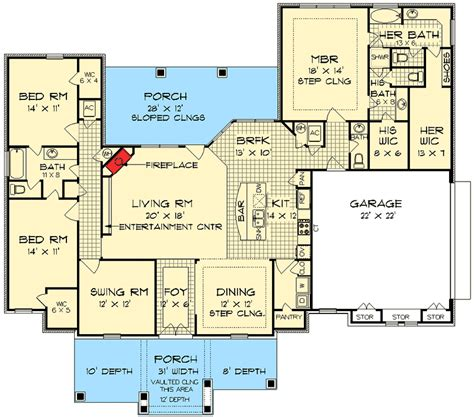 His And Bathroom Floor Plans plan 55137br his and bathrooms in 2019 house plans