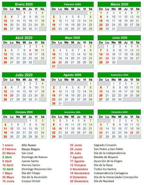 calendario festivos colombia viviendo cali