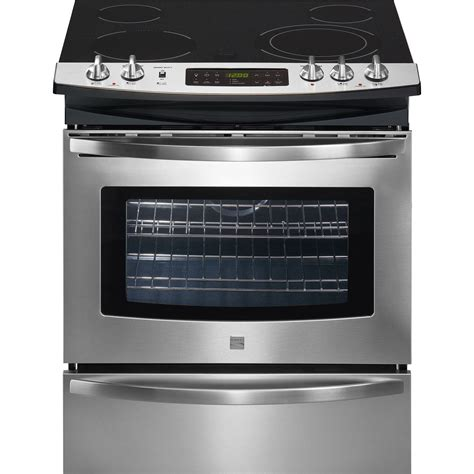drop in electric ranges reviews kenmore 46893 30 quot slide in electric range sears outlet