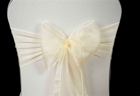 wedding chair cover ivory organza