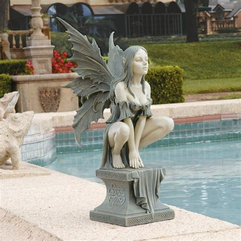 garden statues celtic plinth magical mystical yard garden