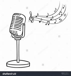 Microphone clipart music - Pencil and in color microphone ...