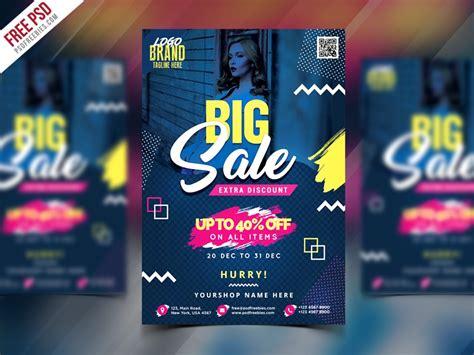 big sale flyer poster  psd  psd freebies dribbble