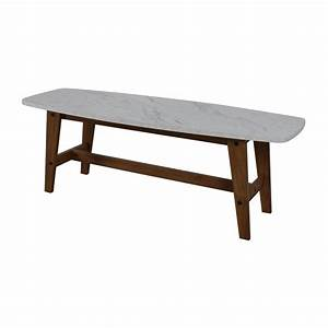82 off faux marble coffee table tables for Limestone coffee table