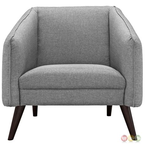 Mid Century Modern Armchair by Slide Mid Century Modern Upholstered Armchair With Wood
