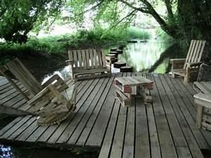 Meuble Pour Terrasse : meubles en palettes le bois recyclable pour votre confort ~ Premium-room.com Idées de Décoration