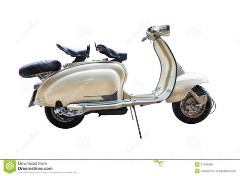 Lambretta Backgrounds by Vintage Lambretta On A White Background Royalty Free Stock